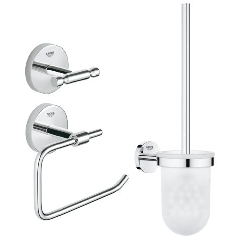Set accesorii baie Grohe BauCity 3 in 1